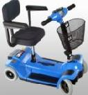 Zipr Mobility ZIPR4BLUE 4 Wheel Travel Scooter - Blue