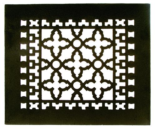 Acorn GR1BG 10 x 8 Cast Iron Decorative Grille - Black
