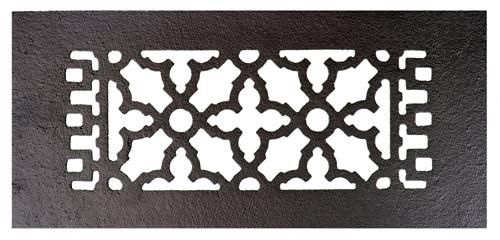 Acorn GR6BG 10 x 4 Cast Iron Decorative Grille - Black