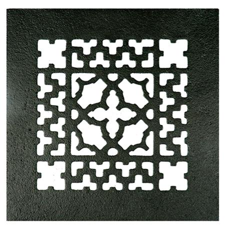 Acorn GR9BG 8 x 8 Cast Iron Decorative Grille - Black