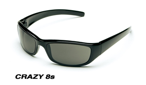 Body Specs CRAZY 8 S BLACK MATTE.13 Extreme Crazy 8s Sunglasses with Black Matte Frame and Smoke Lens BDYS050