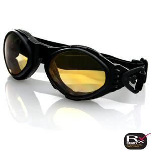 Zan Headgear BA001A Bugeye Goggle  Black Frame  Amber Lens
