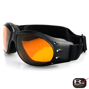 Zan Headgear BCA001A Cruiser Goggle  Black Frame  Anti-Fog Amber Lens