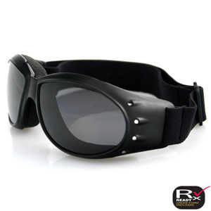 Zan Headgear BCA001R Cruiser Goggle  Black Frame  Anti-Fog Reflective Lens