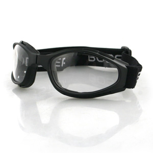 Zan Headgear BCR002 Crossfire  Small Folding Goggles  Black frame  Clear lenses BLB053