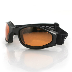Zan Headgear BCR003 Crossfire  Small Folding Goggles  Black frame  Amber lenses
