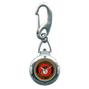 Military Belts - Zan Headgear VB05 Belt Watch Chrome Military U.S Marine Corps Red Face
