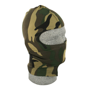 Zan Headgear WBN118 Balaclava  Nylon  Woodland Camouflage