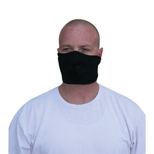 Zan Headgear WFMF114H Facemask  Microfleece  Half Face  Black BLB368