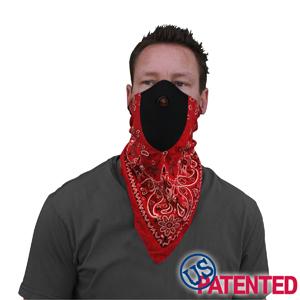 Zan Headgear WNEO106 NeoDanna  100 Percent Cotton Bandanna with Neoprene  Red Paisley BLB374