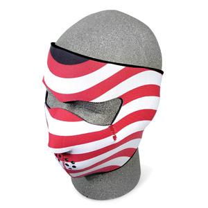 Zan Headgear WNFM003 Neoprene Face Mask  USA Flag  Stars and Stripes BLB385