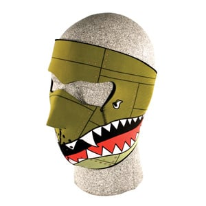 Zan Headgear WNFM010 Neoprene Face Mask  Bomber BLB393