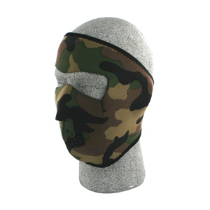 Zan Headgear WNFM118 Neoprene Face Mask  Woodland Camouflage BLB414