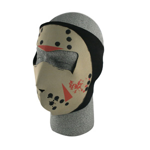 Zan Headgear WNFM213G Neoprene Face Mask  Glow in the Dark  Jason Mask BLB419