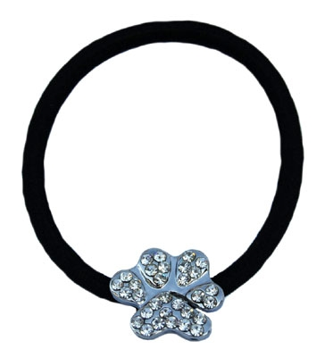Hair Ties - Beau Nouveau PPHTIECDCP Crystal Paw Parent Hair Tie - Clear Diamond