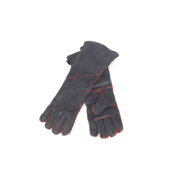 Minuteman International Co. A-13B 1 Pair Of Fireproof  Insulated  Black Cowhide Fireplace Gloves  19 Inch l