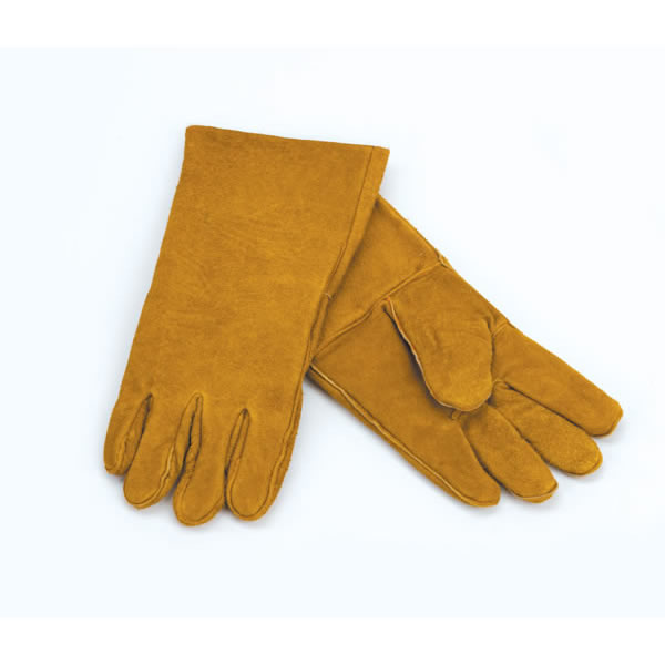 Custom Leather Craft (Clc)  1 Pair Of Brown Leather Fireplace Gloves  13.5 Inch l