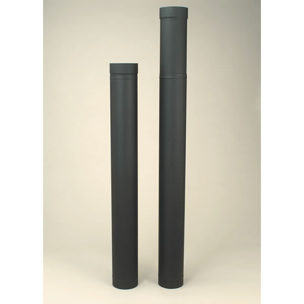 Selkirk Corporation 2606B 6 Inch  x 38 Inch -70 Inch  Adjustable Length Heat-fab 22-ga Welded Black Stovepipe