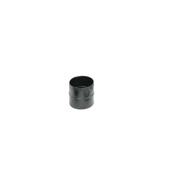 Imperial Manufacturing Group BM0047 6 Inch  24-ga Snap-Lock Black Stovepipe Male Coupling  4 Inch  Long  Male Crimp