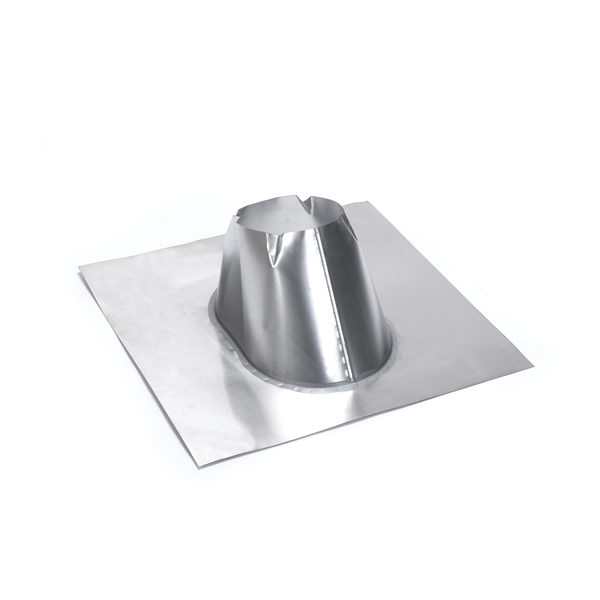 M & G Duravent 6DT-F6DSA 6 Inch  Duratech Dead Soft Aluminum Roof Flashing 0/12 - 6/12 Pitch