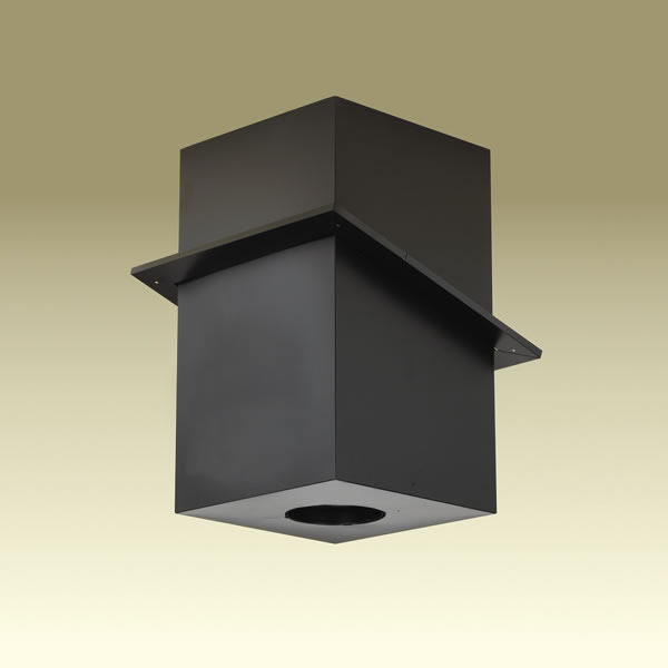 M & G Duravent 6DP-CS24 6 Inch  Dura-Vent Dura/plus Cathedral Ceiling Support  Galvalume Painted Black  Trim Collar Included