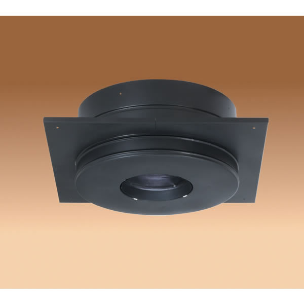 M & G Duravent 6DP-RCS 6 Inch  Dura-Vent Dura/plus Round Ceiling Support  Galvalume Painted Black  Trim Collar Included
