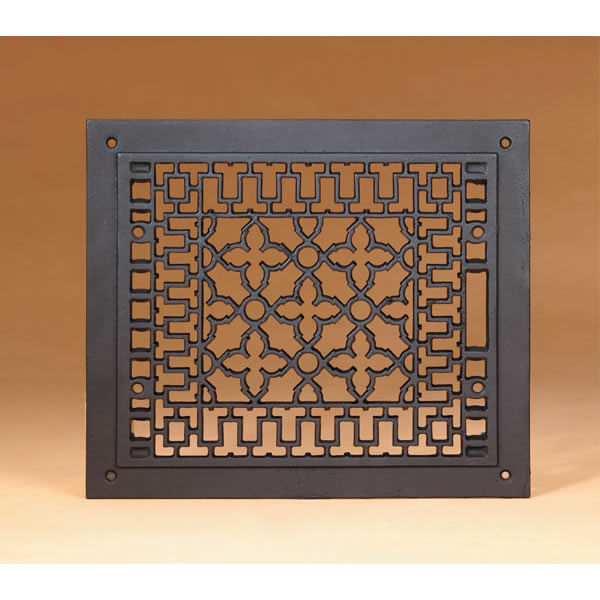 Minuteman International Co. JG-14 12 Inch  x 14 Inch  Cast-iron Grille  Black  Fits 10 Inch  x 12 Inch  Opening