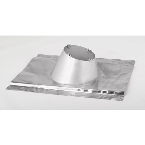 Lennox Hearth Products 6FARA+ 6 Inch  Secure Temp Roof Flashing  1/12-7/12 Pitch Malleable For Metal/contoured Roofs  Aluminum