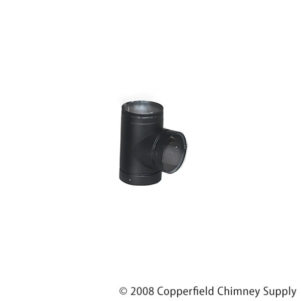 Lennox Hearth Products 6DT 6 Inch  Security Double-Wall Black Stovepipe Tee With Cover
