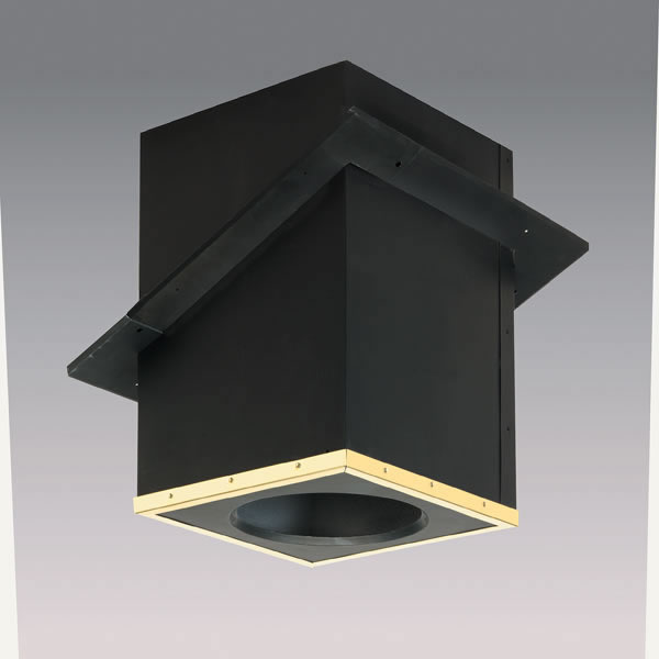 Selkirk Corporation SPR6CCSB 6 Inch  Superpro Catherdral Support Box With Black Ceiling Trim  Galvalume