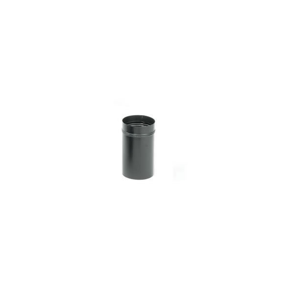 Imperial Manufacturing Group BM0044 8 Inch  24-ga Snap-Lock Black Stovepipe Slip Connector  11 1/2 Inch  Length  Adusts 3 Inch  To 9 Inch