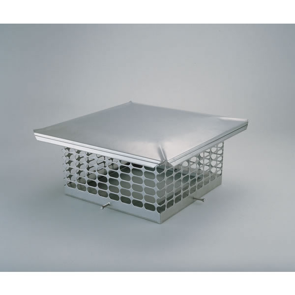 Chim Cap Corporation CCSS1313 13 Inch  x 13 Inch  Chim Cap Stainless Forever Cap  3/4 Inch  Mesh  24-ga. Lid  18-ga. Screen And Base