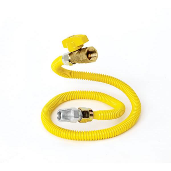 Brass Craft Industrial Product CSSD4K-24 Gas Appliance Connector  1/2 Inch  X 24 Inch   W/shut Off Valve