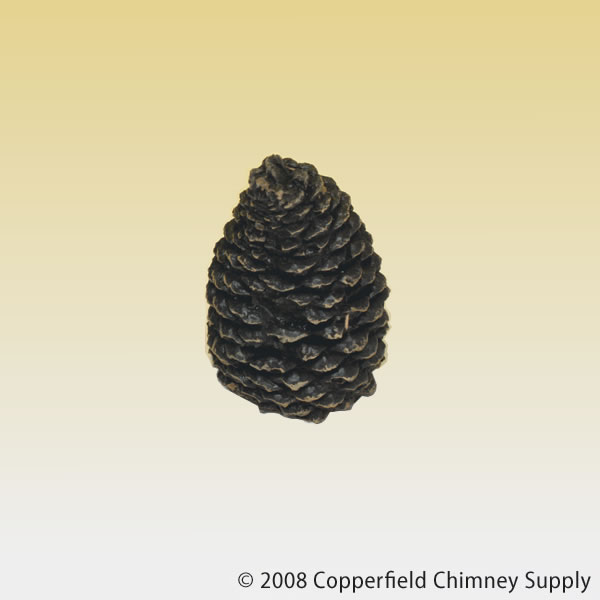 Copperfield Chimney Supply Hargrove Manufacturing 1204BX Hargrove Small Straight Ceramic Pine Cone For Gas Logs  4.5 Inch h at Sears.com