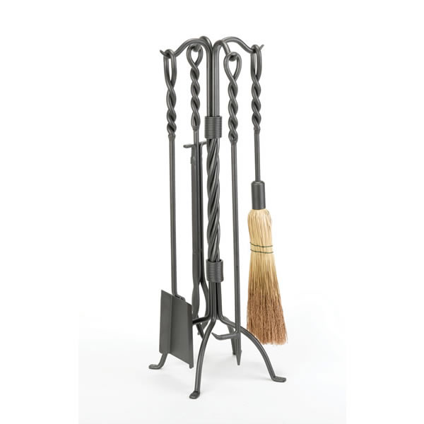 click for Full Info on this Woodfield  4 piece Vintage Iron Twisted Rope Tool Set