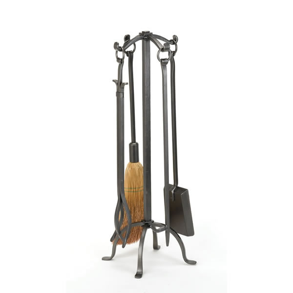 click for Full Info on this Woodfield  4 piece  Vintage Iron Tool Set With Ring Handles