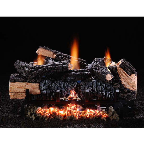 Chimney 48555 18 Inch Cumberland Char Vent-free Log Set Natural Gas Fits Fireplace Minimum Opening of 16 Inchh x 28 x 12 Inchd