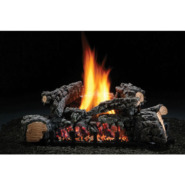 Chimney 48770 22 Inch Highland Glow Vent-free Log Set Natural Gas Fits Fireplace Minimum Opening of 16 Inchh x 28 x 12 Inchd