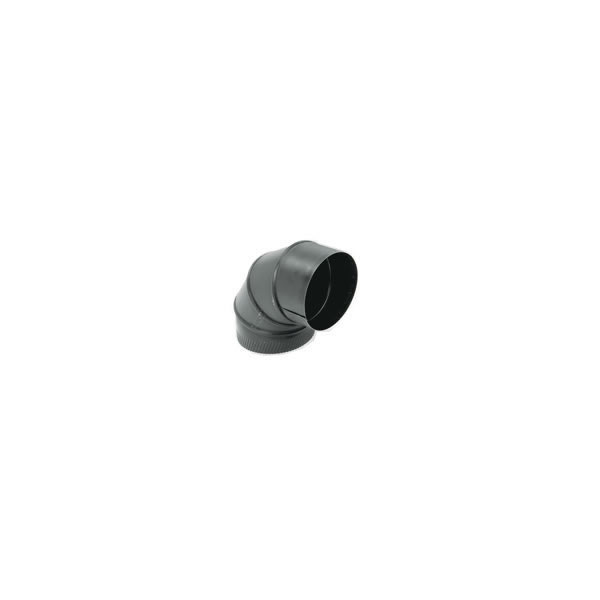 Gray Metal Products  Inc. 5-24-602-R 5 Inch  24-ga Snap-Lock Black Stovepipe 90 Deg Sectioned Adjustable Elbow