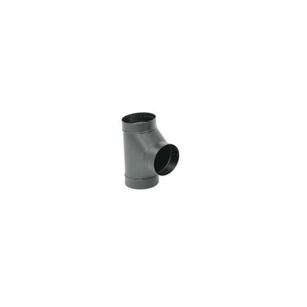Gray Metal Products  Inc. 5-604 5 Inch  24-ga Snap-Lock Black Stovepipe Tee