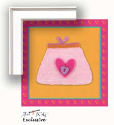 Purse - Art4Kids GA21342 Tres Chic Pink Purse - Gallery Frame Creative Canvas