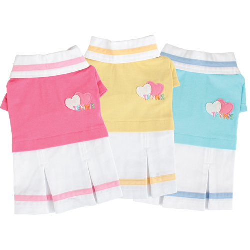 Clothing and Accessories - Puppia PUOP325PIMD Apparel - Tennis Skirt Pink Medium