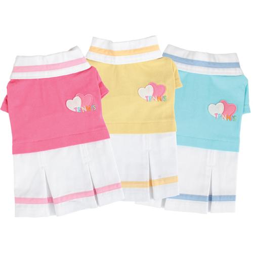 Tennis Skirts - Puppia PUOP325PIMD Apparel - Tennis Skirt Pink Medium