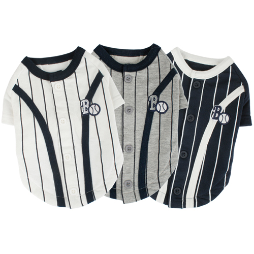 Baseball Shirts - Puppia PUTS302WHXL Apparel - Baseball T-Shirt White XL