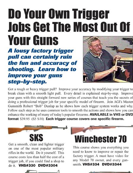 AGI X0336D DVD-AGI: Ruger 10/22 Trigger Jobs