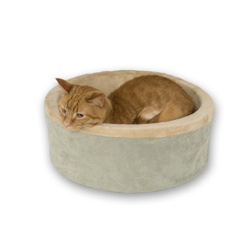 K&H Manufacturing KH3193 SAGE THERMO KITTY BED 16 DIA