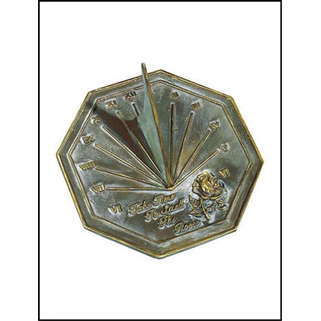 Rome-Industries-2320-Brass-Rose-Sundial