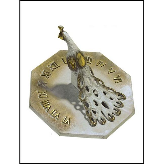 Rome-Industries-2360-Brass-Peacock-Sundial