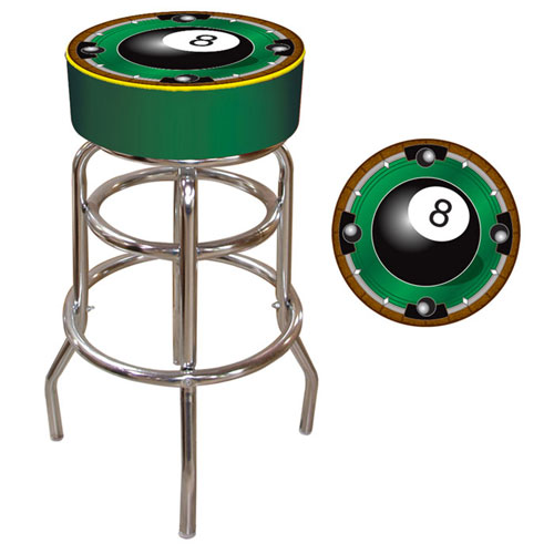 "Poker 8BL1000 7.5"" H 8-Ball Padded Bar Stool"