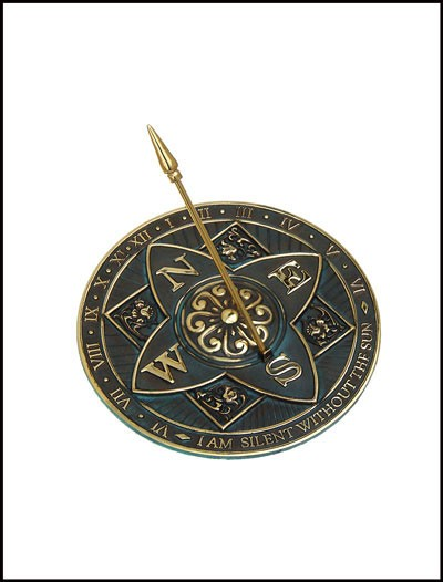 Rome Industries 2304 Brass Rosette Sundial